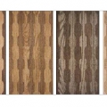 LEFT TO RIGHT: DANISH OILED WALNUT AND ASH, DANISH OILED WALNUT AND OAK, BLACK OILED WALNUT AND ASH, WHITE OILED OAK AND ASH